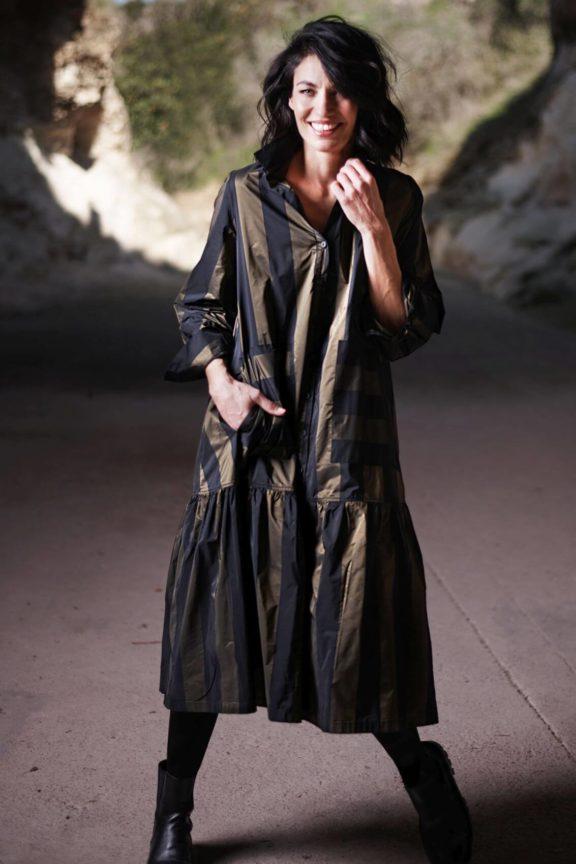 alembika-herbst-wintermode-damen-Kleid Streifen