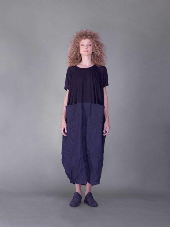 AMMA_Frühjahr_Sommer 2022 Dress black taft