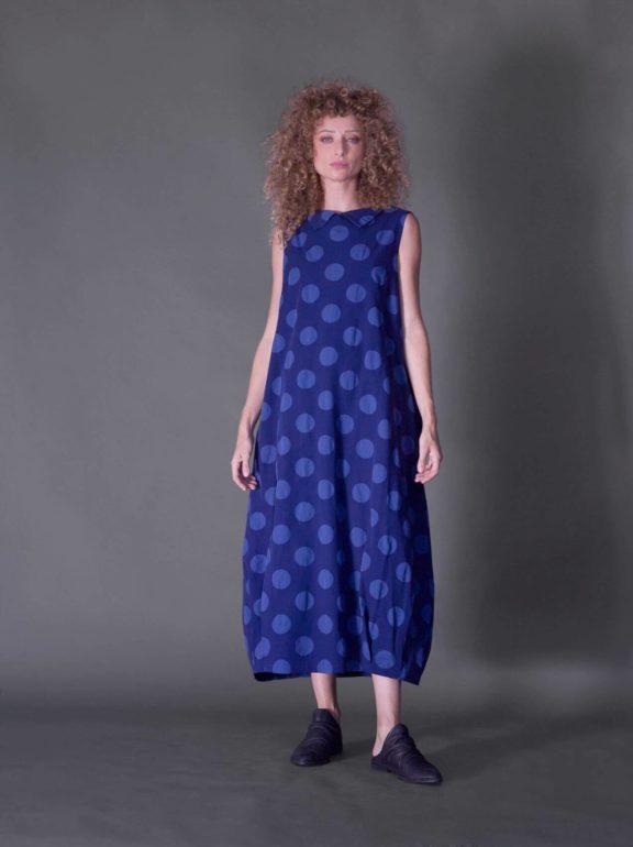AMMA_Frühjahr_Sommer 2022 Dress blue dots