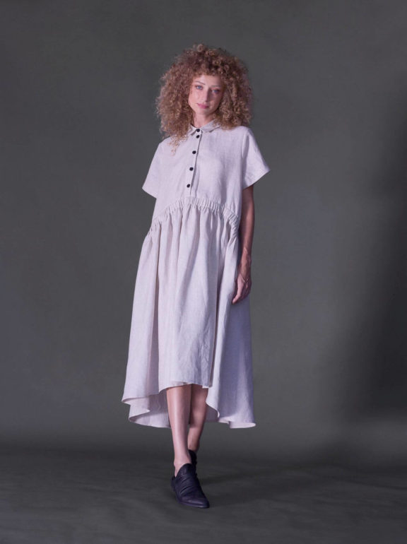 AMMA_Frühjahr_Sommer 2022 Dress Linen cream
