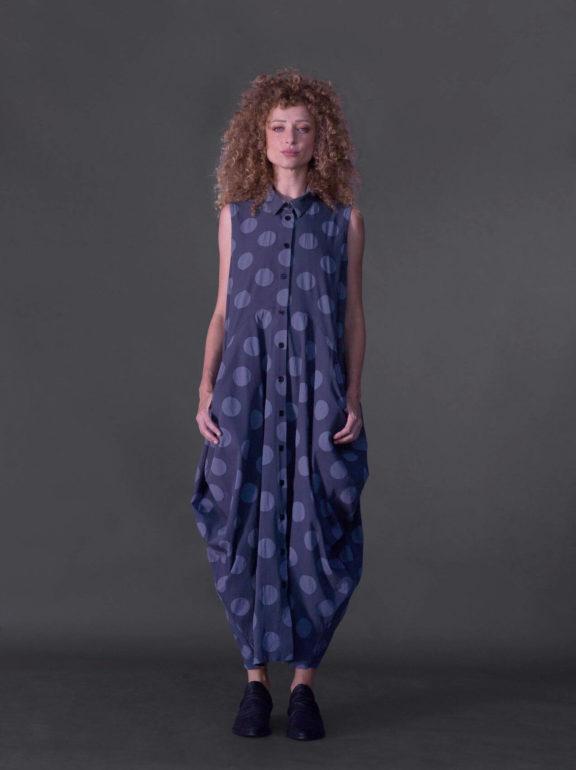 AMMA_Frühjahr_Sommer 2022 Dress grey dots