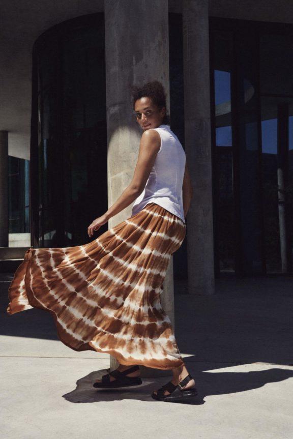 Bitte Kai Rand_Frühjahr_Sommer 2022 Skirt tie dye