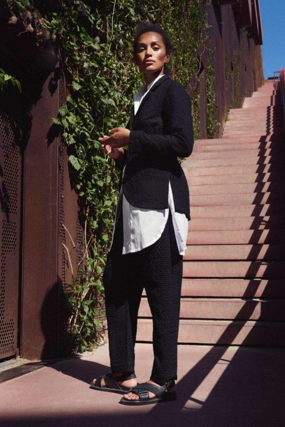 Bitte Kai Rand_Frühjahr_Sommer 2022 Suit black and white