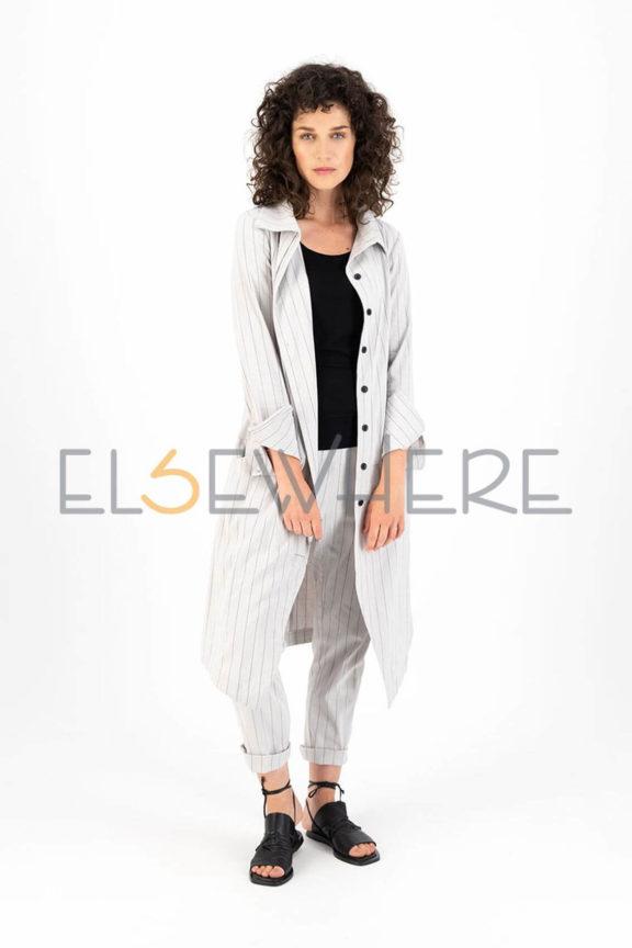 Elsewhere_Frühjahr_Sommer 2022 Linen coat stripes