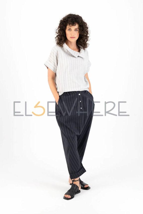 Elsewhere_Frühjahr_Sommer 2022 Pants stripe navy