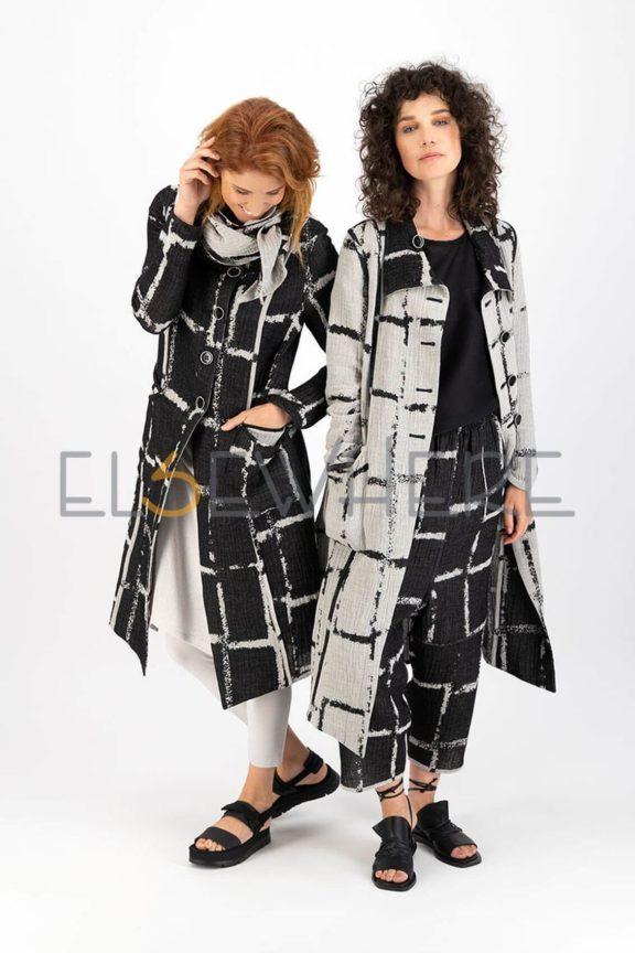 Elsewhere_Frühjahr_Sommer 2022 Coat reversible black and creme