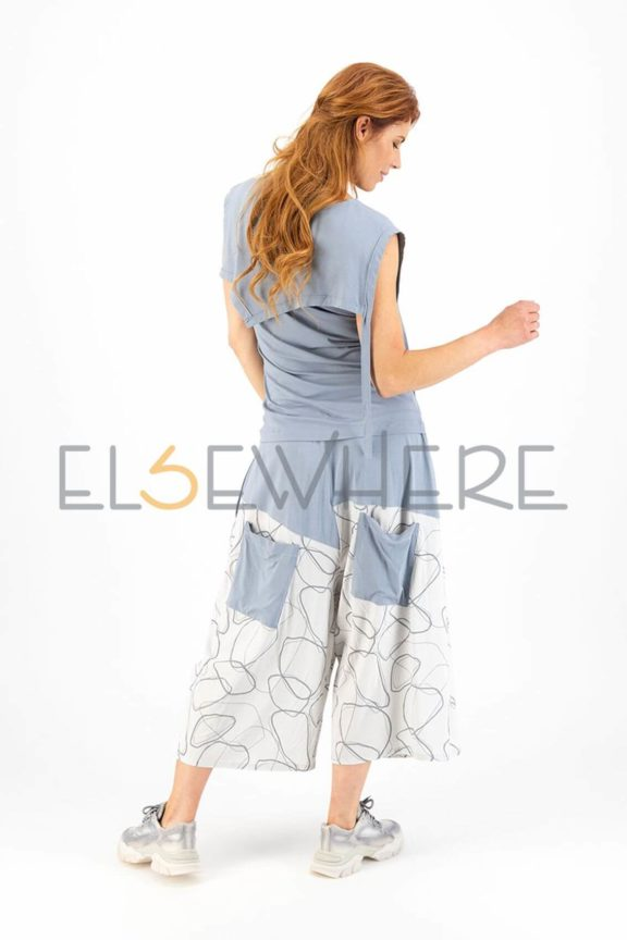 Elsewhere_Frühjahr_Sommer 2022 Pants print pastel blue