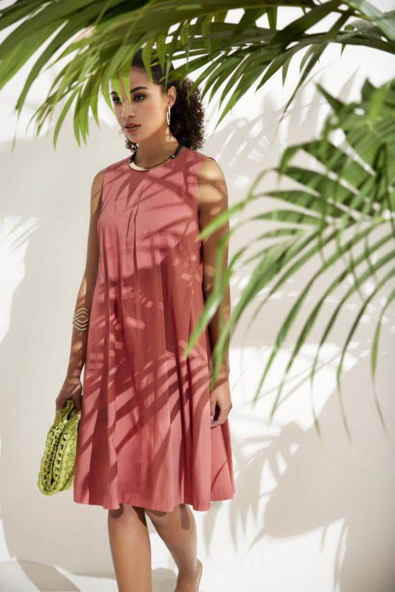 FOX'S_Frühjahr_Sommer 2022 Kleid lachs