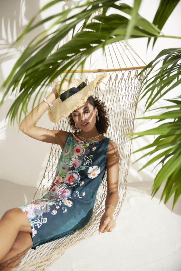 FOX'S_Frühjahr_Sommer 2022 Jerseykleid Blumenprint