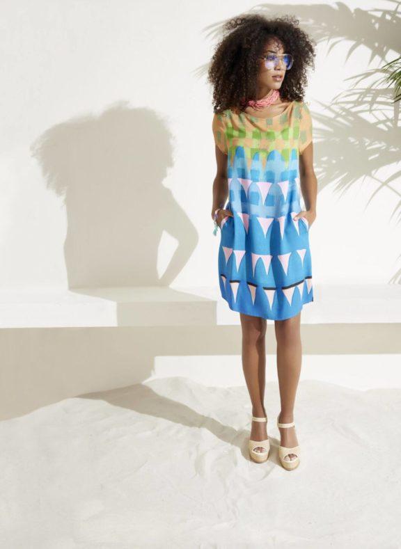 FOX'S_Frühjahr_Sommer 2022 Kleid blau