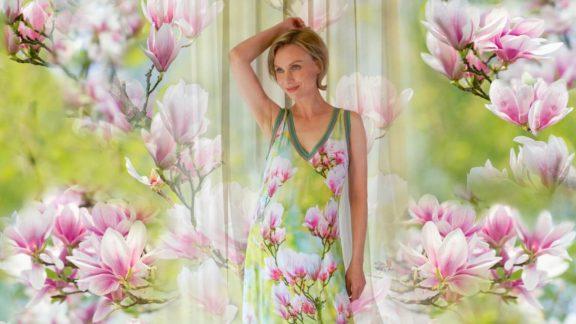 Icke Berlin Frühjahr-Sommer-Kollektion Magnolien