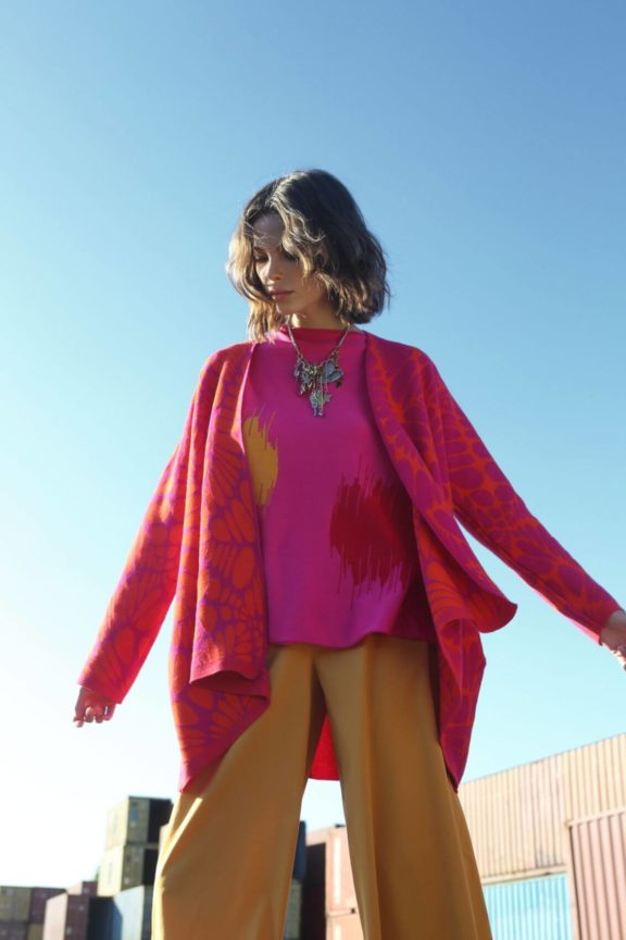 Knit Knit_Frühjahr_Sommer 2022 Knit Sweater pink orange