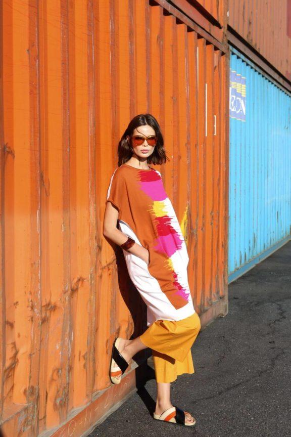 Knit Knit_Frühjahr_Sommer 2022 Knit Dress pink orange