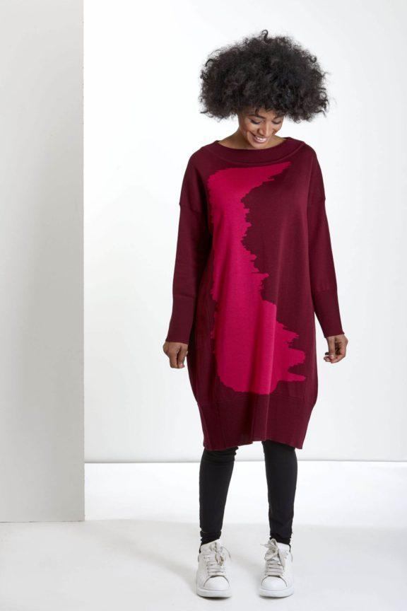 Knit Knit Herbst-Winter-Kollektion-2021 Sweater burgundy