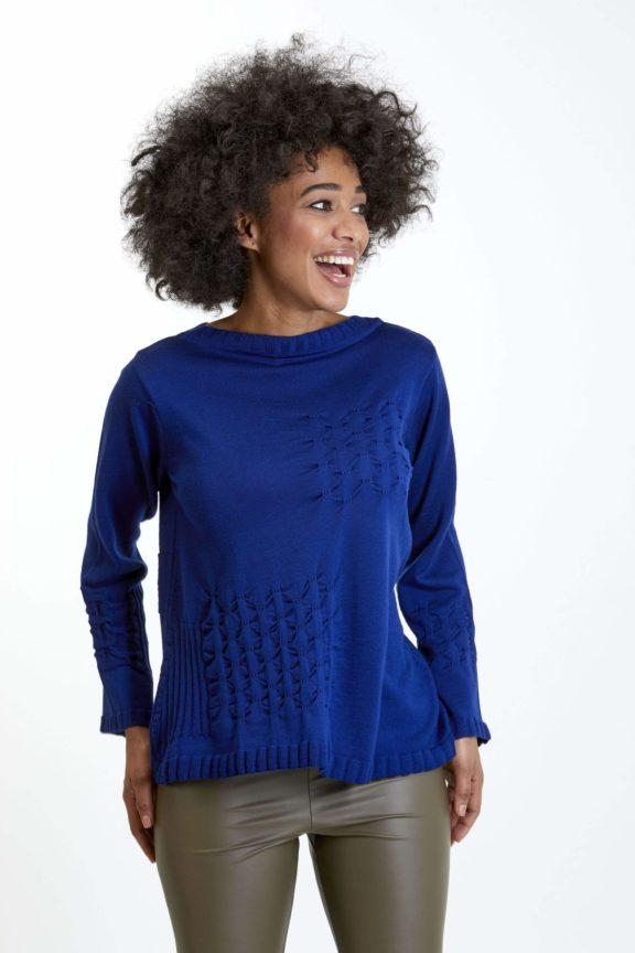 Knit Knit Herbst-Winter-Kollektion-2021 Sweater royal