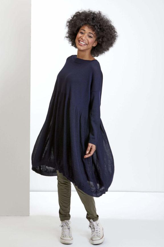 Knit Knit Herbst-Winter-Kollektion-2021 Dress navy blue