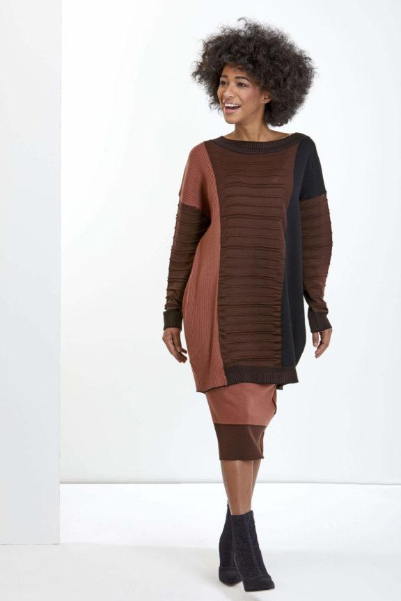 Knit Knit Herbst-Winter-Kollektion-2021 Sweater rose brown