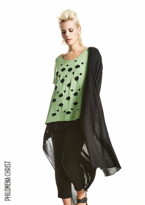 Philomena Christ_Frühjahr_Sommer 2022 Shirt pistacchio green