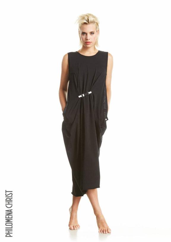 Philomena Christ_Frühjahr_Sommer 2022 Dress belt black