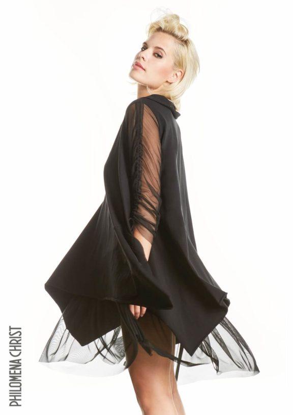 Philomena Christ_Frühjahr_Sommer 2022 Shirt mesh black