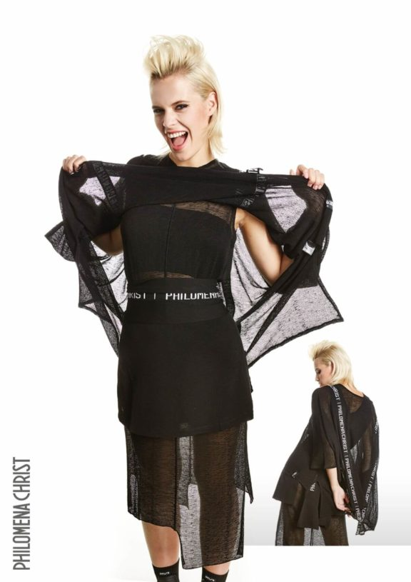 Philomena Christ_Frühjahr_Sommer 2022 dress mesh black